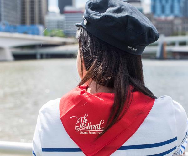 Le Festival Brisbane French Festival Merchandise Foulard rouge